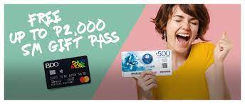 Enjoy up to 30% off and pay later at 0% interest for up to 12 months term from september 1 to october 31, 2021. Free Sm Gift Pass Promo Bdo Unibank Inc