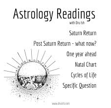 Saturn Return Birth Chart Readings By Dru Ish Dru Ish