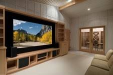 home theater floor seating. luxury home theater with wide floor space seating f