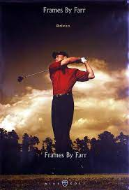 Tiger Woods Driven motivational Nike driver poster BN OOP , Game Day Icons