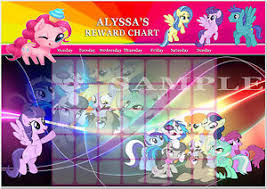 Details About Personalised My Little Pony Reward Chart Magnet Strips Reward Star Stickers
