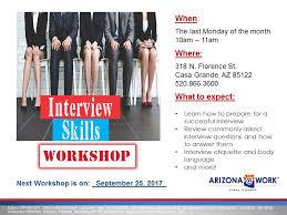 Interview Workshop Flier 9 25 17 Jpg Arizona Work