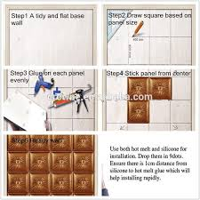 Small Picture Interior Home Decoration Material 3d Wall Tile Made Of Pu Leather