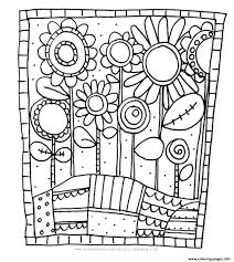 Coloring Pages Adult Simple Flowers Printable Free Advanced Books