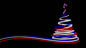 Christmas Tree From Blue, Red And White Tapes. 3D Animation. Alpha Matte.  Stock Footage Video 11801048 | Shutterstock