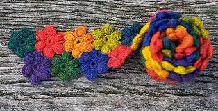 puffy flower scarf
