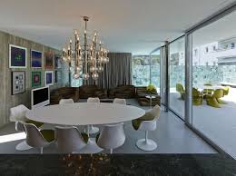 contemporary home design the a b house in austria gorgeous chandelier above the dining table