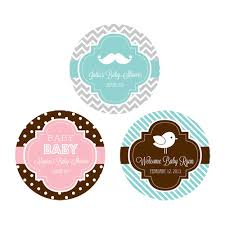 Round Labels For Baby Shower 24ct Favor Labels Baby ShowerBaby Shower Tags And Labels