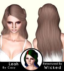 Cazy`s Leah & Melody hairstyle retextured by Wicked - Sims 3 Hairs