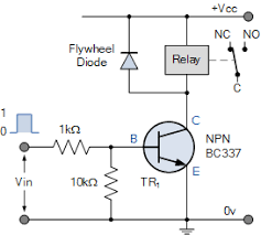 relay switch circuit and relay switching circuit npn relay switch circuit