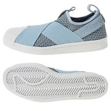 Adidas Women Shoes Size Chart Details About Adidas Womens Superstar Slip On Bb2121 Athletic Sneakers Suede Shoes Blue