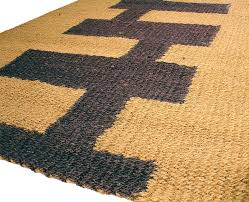 straw rug gorgeous brown jute idea with black geometrical pattern on its surface in rectangle shape straw rug rectangle rugs