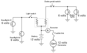 series parallel dc circuits dc electric circuits worksheets 6 volt light bulbs so as to not require resistors between the loads and the generator battery portion of the circuit operating at 12 volts each