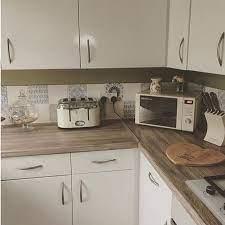 Beautiful Kitchen Renovation Danielle Vintage Home Used Dcfix Design Wood Sanremo Oak For The Workto Diy Kitchen Kitchen Worktop Covers Kitchen Diy Makeover