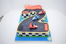 Number 2 Car Cake20 Persons Cake Bakery In Dubai