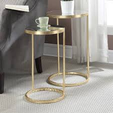 full size of tables chairs contemporary round gold bronze 2 piece nesting table set