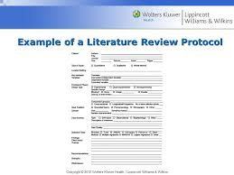 Organizing and Writing the Literature Review  Style
