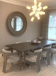 Modern Dining Table In Grey Oak With Live Edge English Country Home