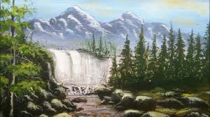 painting lessons for beginners oil painting art on canvas waterfall hill tree s river painting
