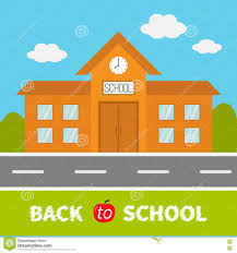school window clipart. Simple School School Building With Clock And Windows City Construction Road Sky Cloud Throughout Window Clipart E
