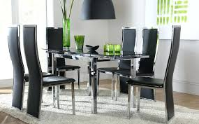 black dining table and chairs awesome innovative black dining room chairs stunning table and inside sets