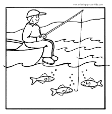 Small Picture Fishing coloring pages for kids quiet book animals Pinterest