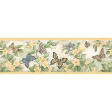 Kitchen Wallpaper Border Brewster Kitchen Bath Bed Resource Iii Butterflies Wallpaper