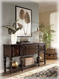 wall color for brown furniture. british colonial key town server in brown furniture u0026 decor for entry wall color