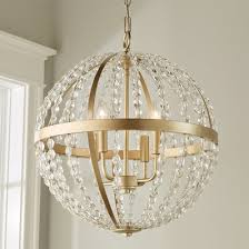 image chandelier lighting. Crystal And Gold Globe Chandelier - Large Image Lighting