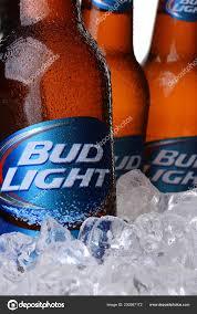 Bud Light Glass Light Up Irvine May 2014 Closeup Three Bud Light Beer Bottles Ice
