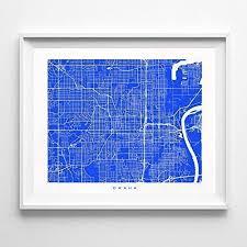 Nebraska One Chart Amazon Com Omaha Nebraska Street Road Map Home Decor Poster