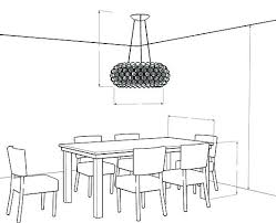 height to hang light over dining room table. full image for standard dining room table light height innovative on other to hang over