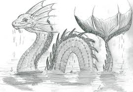 sea serpent drawings. Brilliant Sea Sea Serpent By XArcox  Intended Drawings E