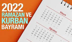 2022 Ramazan Bayramı ve Kurban Bayramı ne zaman? Diyanet İşleri Başkanlığı  takvimi! - DİNİ BİLGİLER Haberleri