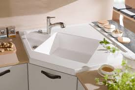 Kitchen Corner Sink White Undermount Kitchen Sinks Kitchen Sinks The Home Depot
