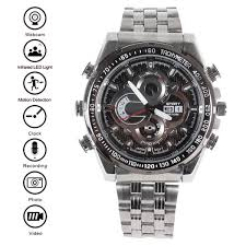 waterproof 8gb 720p 1080p hd watch with ir led light supports night vision