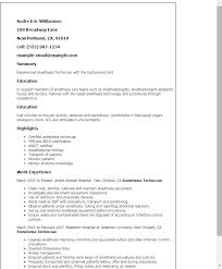 Anesthesia Technician Resume Template Best Design Tips