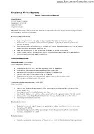 Freelance Writer Resume Objective