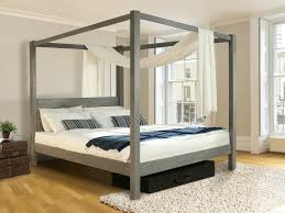 Four Poster Bed Wooden Canopy Bed Low Four Poster Bed By Get Laid Beds