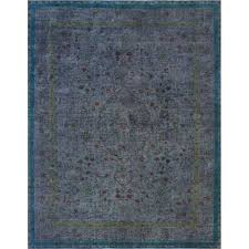 one of a kind vintage distressed hand knotted wool gray area overdyed rugs rug