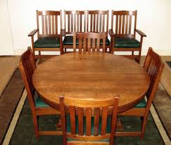 set of 8 vintage l j g stickley dining chairs including 2 arm chairs