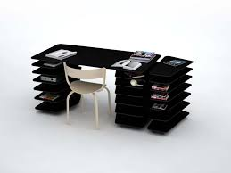 modern home office featuring glossy white. Minimalist Office Furniture Design. Desk Design For Your Home Interior Ideas: Cool Desks Modern Featuring Glossy White O