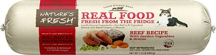 nature s fresh beef dog food roll