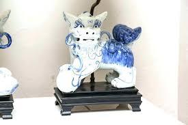 foo dog lamp elegant foo dog lamps or pair of blue and white foo dog lamps