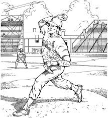 St Louis Cardinals Pitcher Baseball Coloring Page Purple Kitty