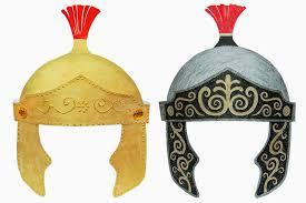 roman imperial helmet kids crafts