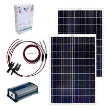 Solar Powered Mini Fridge Grape Solar 200 Watt Off Grid Solar Panel Kit Gs 200 Kit The