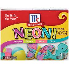 Mccormick Egg Dye Color Chart 2 Pack Mccormick Neon Assorted Food Color Egg Dye 1 Fl