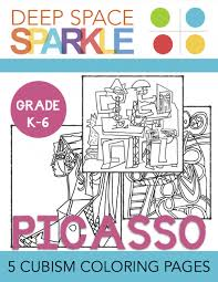 Small Picture Picasso Cubism Coloring Pages Deep Space Sparkle