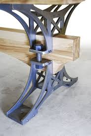 industrial metal and wood furniture. Brandner Design White Ash Truss Table Industrial Metal And Wood Furniture
